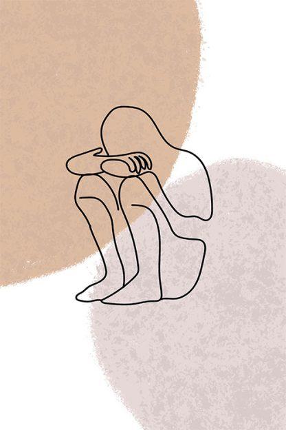 Emotional Statue Line poster