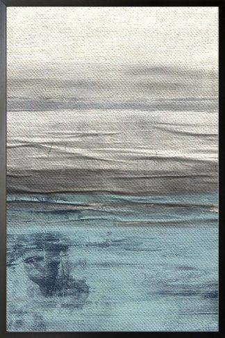 Ocean with texture poster