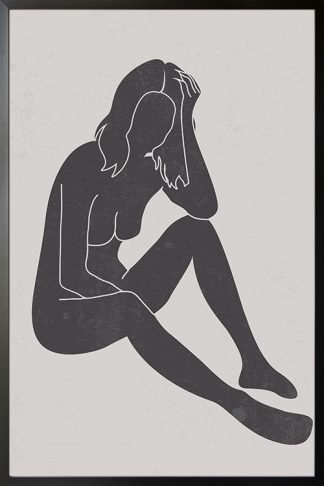 Black Lady Pose poster with frame