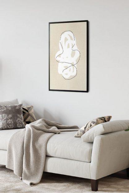 Brush stroke in canvas poster in interior
