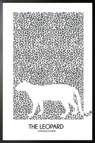 The Leopard poster with frame