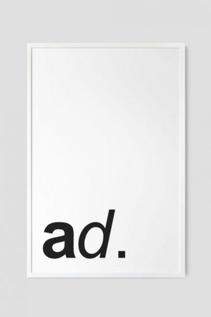 White Frame for poster