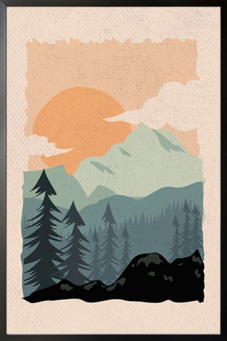 Into the wild abstract poster with frame