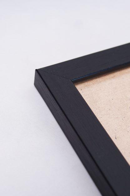 Black frame close up view