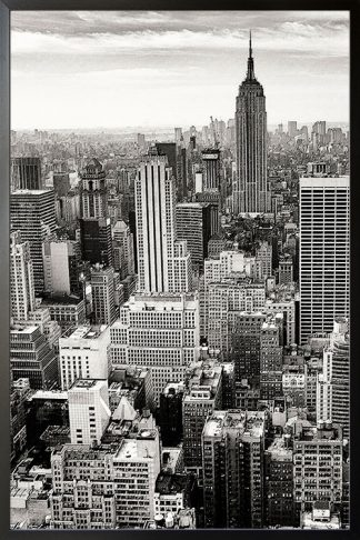 Skyscraper empire State poster with frame