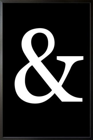 Black and white ampersand symbol poster