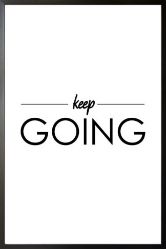 Keep going typography poster with frame