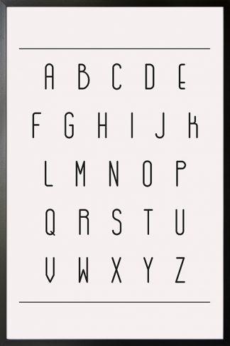 Minimalist Alphabet poster with frame