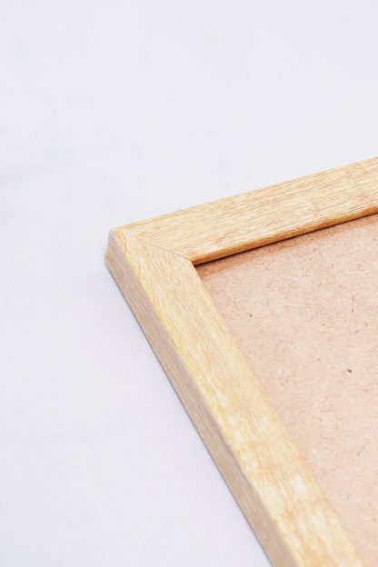 Wood frame close up view