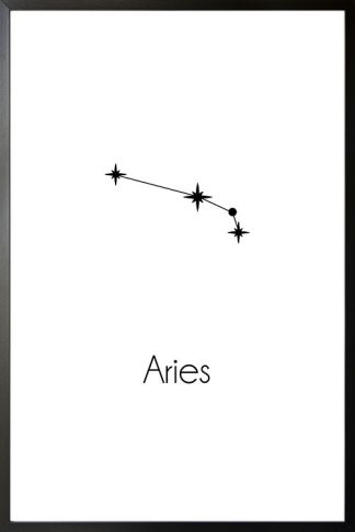 Constellation Zodiac Aries poster with frame