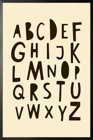 Nursery Kiddie Alphabet Poster