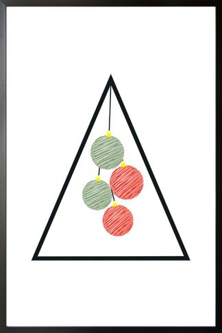 Holiday Triangle and ball scribble poster
