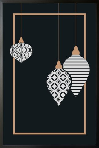 Holiday Elegant Christmas balls poster