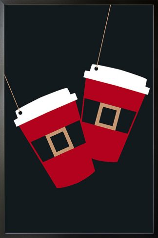 Holiday Elegant Christmas cup poster