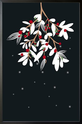 Holiday Hanging Christmas branch poster