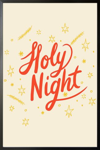 Holy night Holiday poster