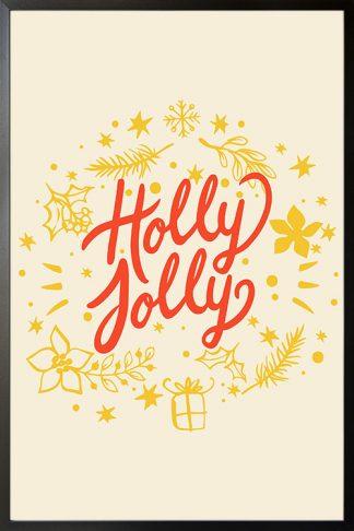 Holly jolly holiday poster