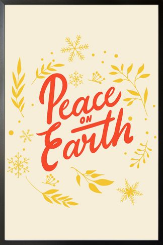 Peace on earth holiday poster
