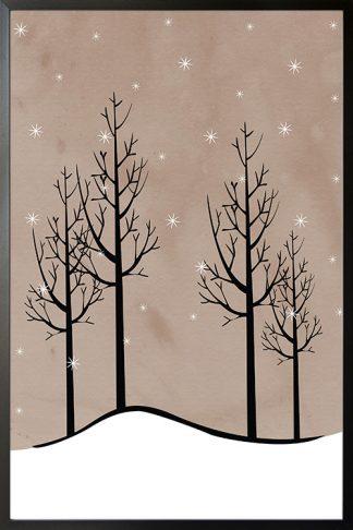 Winter wonder night poster