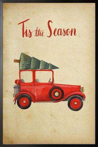 Tis the season Christmas Truck poster