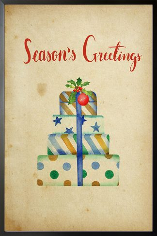 Holiday Season's greetings gifts poster