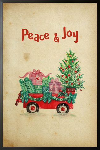 Peace and Joy holiday poster