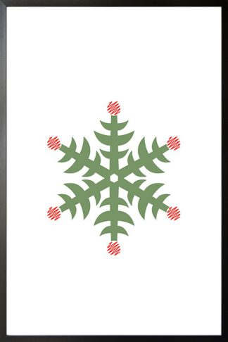 Holiday Snowflakes scribble poster
