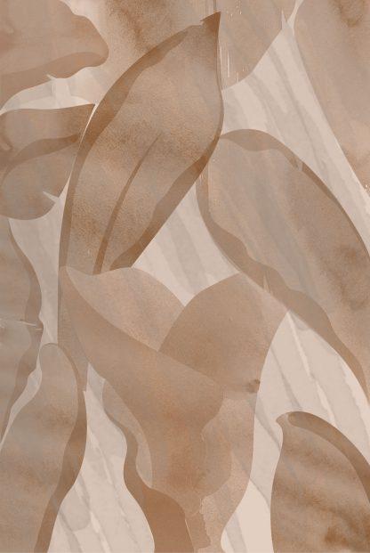 Abstract Beige Petals poster
