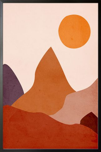Valley Abstract poster