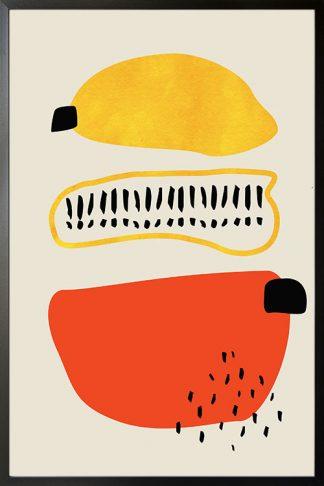 Abstract Minimal Shapes poster