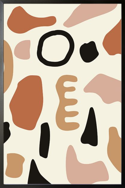 Assorted Shape Abstract poster