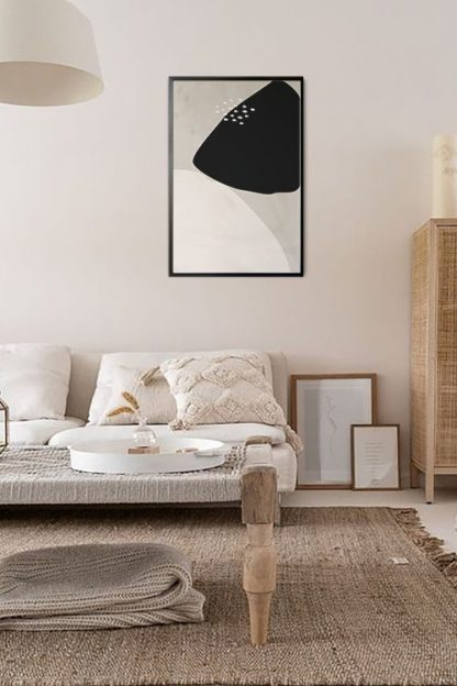 Full and Half Shape abstract poster in interior