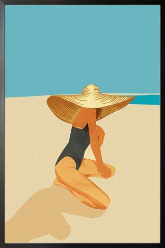 Women in Beach Hat poster