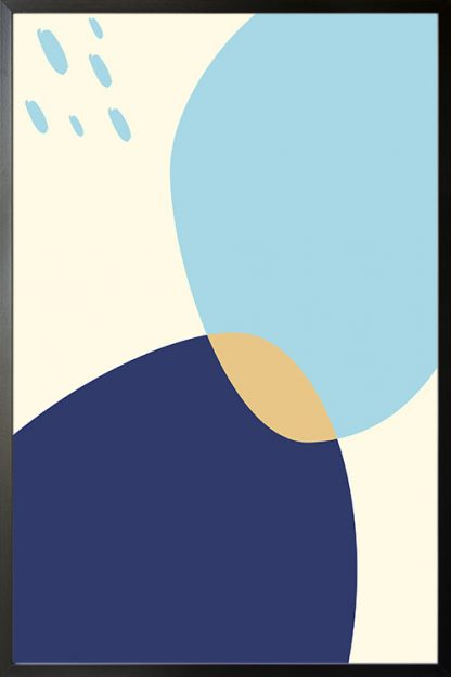 Abstract shapes and colours poster
