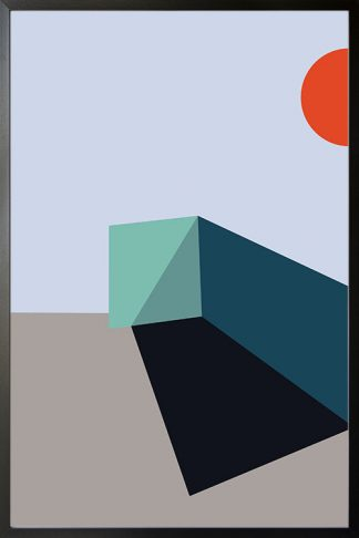 Abstract shapes and colours no.6 poster