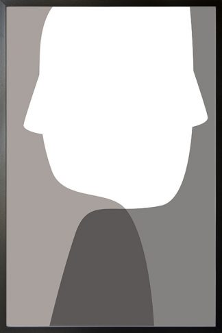 Abstract person shapes and colours poster