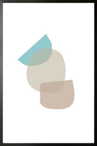Abstract shapes and colours no.10 poster