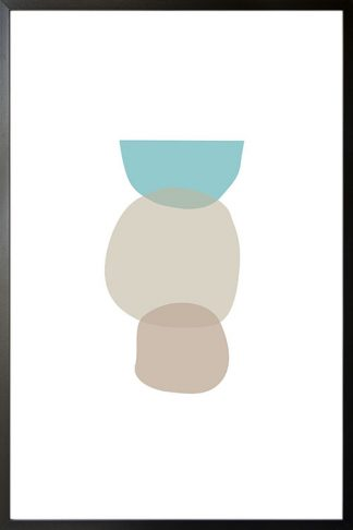 Abstract shapes and colours no.11 poster