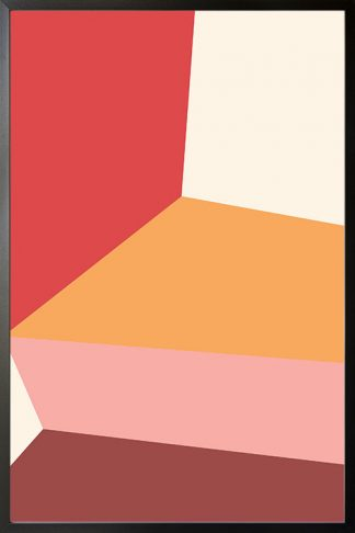 Abstract shapes and colours no.14 poster