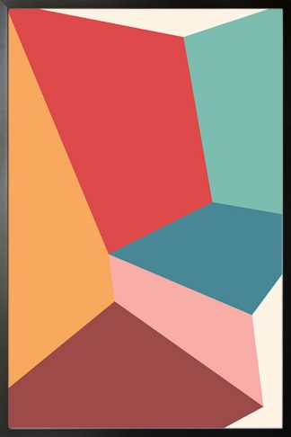 Abstract shapes and colours no.15 poster
