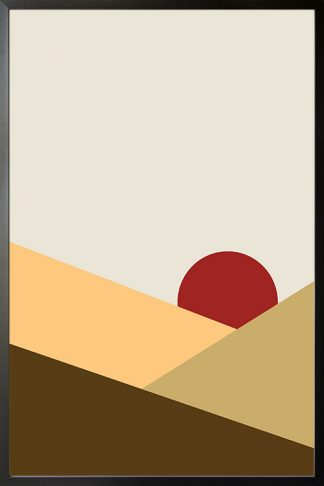 Abstract shapes and colours no.1 poster