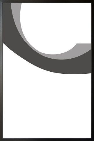Abstract gray tone no.1 poster