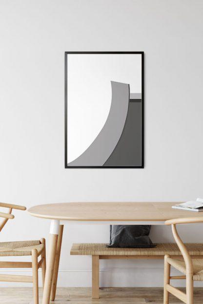 Abstract gray tone no.2 poster