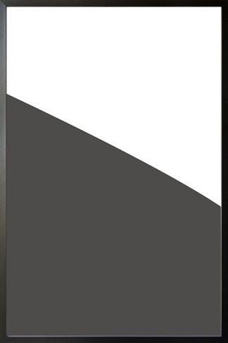 Abstract gray tone no.4 poster