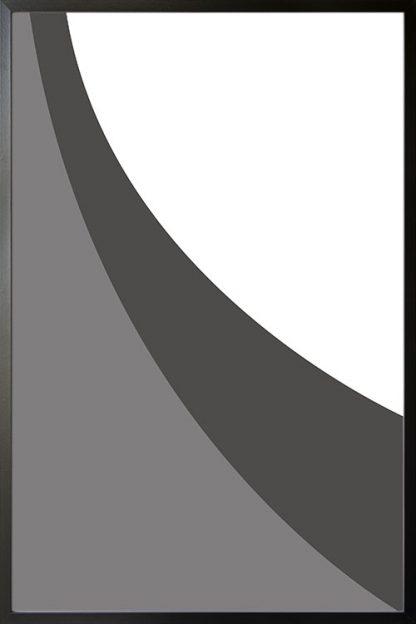 Abstract gray tone no.9 poster