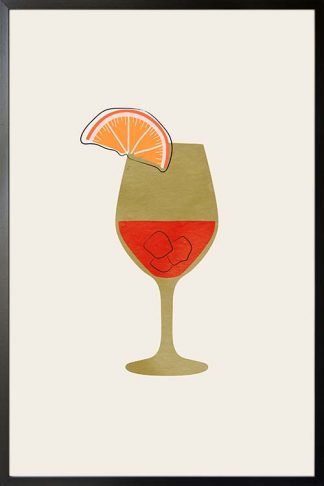 Wine glass and texture art print poster