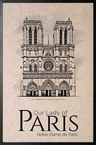Our lady of paris poster