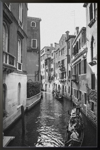 enice Canal Black and White poster