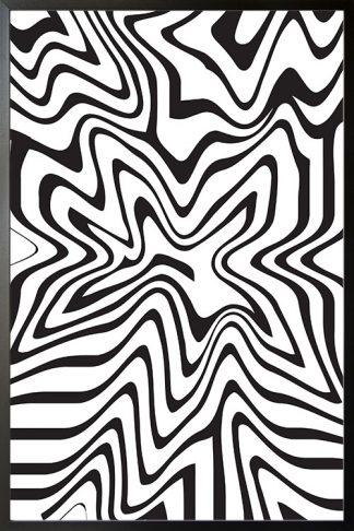 Line art liquified poster
