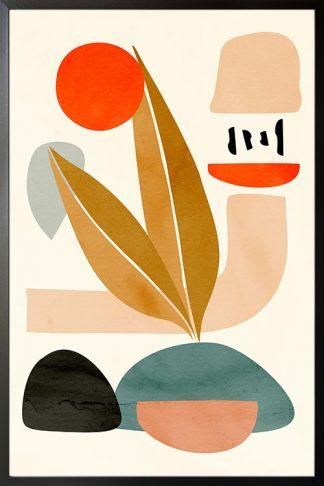 Modern texture shape poster